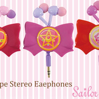 Sailor Moon is Back!! Get Sailor Moon Cute Ribbon Shaped Reel Type Earphone Only at HAMEE. Shop Now!!