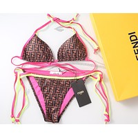 FENDI FF Women Two Piece Bikini Swimsuit Swimwear