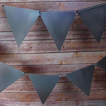 BLOWOUT Silver Large Triangle Flag Pennant Banner (11FT)