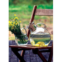 Small Glass Tilted Pitcher