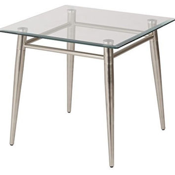 Brooklyn Clear Tempered Glass Table