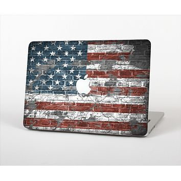 """The Vintage USA Flag Skin Set for the Apple MacBook Pro 13"""" with Retina Display"""