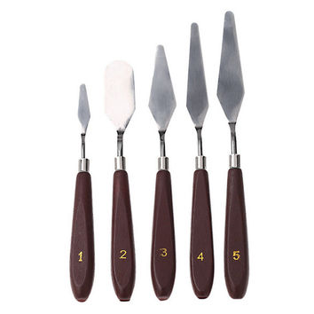 Knife Tools Set Oil painting knife color knife art supplies painting tools 5 pcs [11499078287]