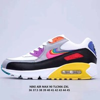Nike Air Max 90 BETRUE Rainbow logo classic casual running shoes