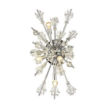 Starburst 4-Light Wall Lamp in Polished Chrome