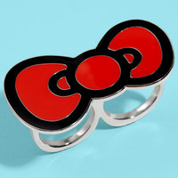 Hello Kitty Bow Brass Knuckles Ring