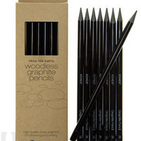 Woodless Graphite Pencils: Set of eight 2B pencils.