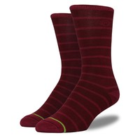 Men's Maroon Striped Socks