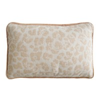 Sand Jacquard Woven Leopard Pillows by Kevin O'Brien Studio