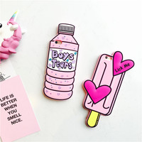 Cute 3D Stereo Baby Pink Boy Tear Bottle Popsicle Ice Lolly Soft Silicon Cover For iPhone 6 s + 7 7plus Hot Fashion Phone Cases