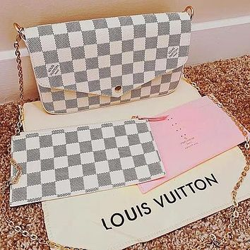 Louis vuitton LV Bag Crossbody bag Hot Sale Popular Women Shopping Bag Leather Handbag Tote Shoulder Bag Satchel Three-Piece