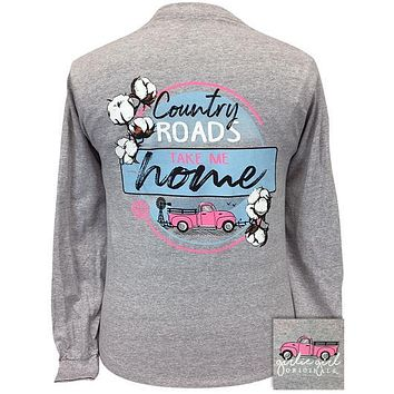 Girlie Girl Originals Country Roads Cotton Long Sleeves T Shirt