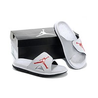 Nike Air Jordan White Casual Sandals Slipper Shoes Size US 7-13-1
