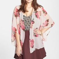 Band of Gypsies Sheer Print Kimono (Juniors) (Online Only) | Nordstrom