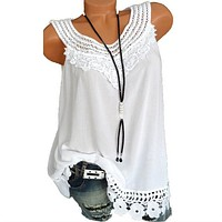fhotwinter19 new hot sale fashion lace sleeveless solid color women's vest
