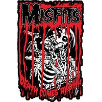 Misfits Iron-On Patch Death Comes Ripping Logo