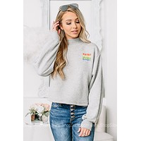 Rainbow Babe Cropped Sweatshirt