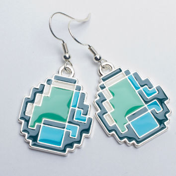 J!NX : Minecraft Diamond Earrings
