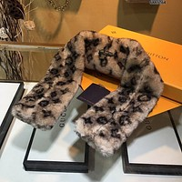 LV Louis Vuitton Fashion Men Women Letter Print Cashmere Scarf Scarves