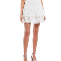 GB Coordinating Eyelet Tiered Skirt | Dillard's