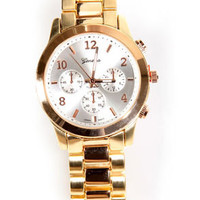 All In the Wrist Gold Watch