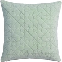 """august quilted mint 16"""" pillow"""