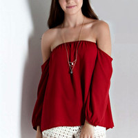 In This Together Top - Garnet