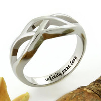 """Infinity Ring - Pure Love Ring Engraved on Inside with """"Infinity Pure Love"""""""