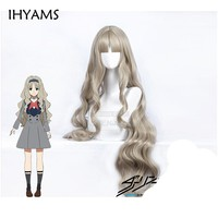 Cool DARLING in the FRANXX Code 556 KOKORO Cosplay Wig Long Wavy Curly Synthetic Hair + Wig CapAT_93_12