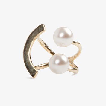 Happy Face Pearl Ring