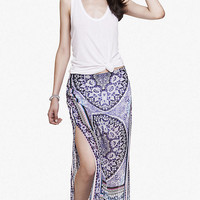 TAPESTRY PRINT WOVEN MAXI SKIRT from EXPRESS