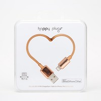 Happy Plugs Rose Gold Lightning Charge & Sync Cable
