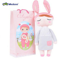 With Gift Bag 30CM Cute Metoo Angela Dolls Bunny Baby Toy Stuffed Animal Kawaii Panda Bee Plush Toy For Kids Metoo Toy WL10
