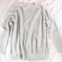 "~~~ SUCH A MUST ~~~ DEMYLEE PALE BLUE ""OPEN KNIT/OVERSIZED"" LINEN SWEATER ~~ S/M"