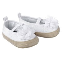 Just One You™Made by Carter's® Newborn Girls' Eyelet Espadrille - White NB