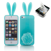 11 color Bunny Rabito Rabbit TPU Skin phone Case Cover for iPhone 4 4s Film