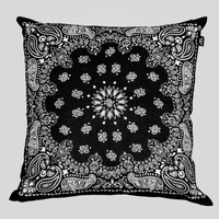 Bandana Pillow in Black/White