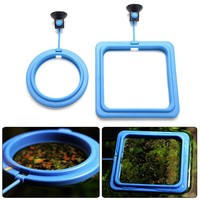 For 11.11 Feeding Ring Aquarium Fish Tank Station Floating Food Tary Feeder Square Circle