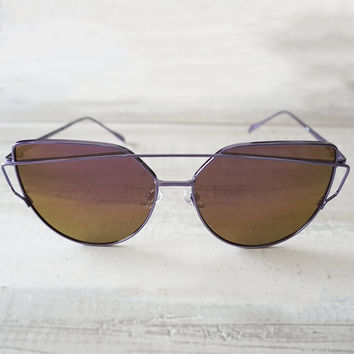 Wildling Reflective Sunglasses - Purple