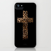 Leopard Cross iPhone Case by daniellebourland | Society6