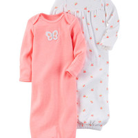 2-Pack Babysoft Neon Sleeper Gowns