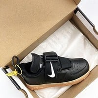Nike Air Force 1 Utility QS AF1 Black-brown functional night-light sole shoes