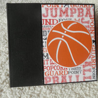 6x6 Chipboard Basketball Scrapbook Photo Album