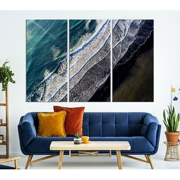 Large Aerial Ocean Wall Art Landscape Canvas Print