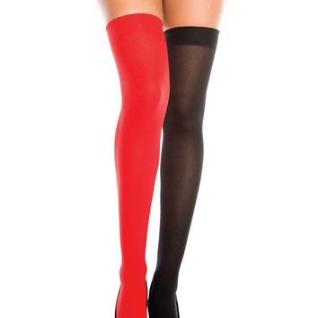 Red/Black Stocking Thigh High