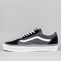 Vans Old Skool Trainers - Suede Chambray Black at Ozzys