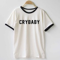 CRY BABY RINGER T-SHIRT