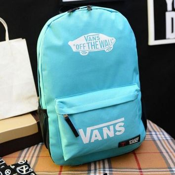 DCCKHB0 VANS Canvas double shoulder backpack college students in the wind of the school children's schoolbag youth fashion bag