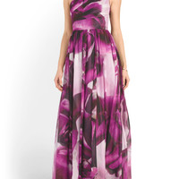 Large Petal Printed Gown - Formal - T.J.Maxx