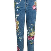 PETITE Garden Embroidered Mom Jean - New In This Week